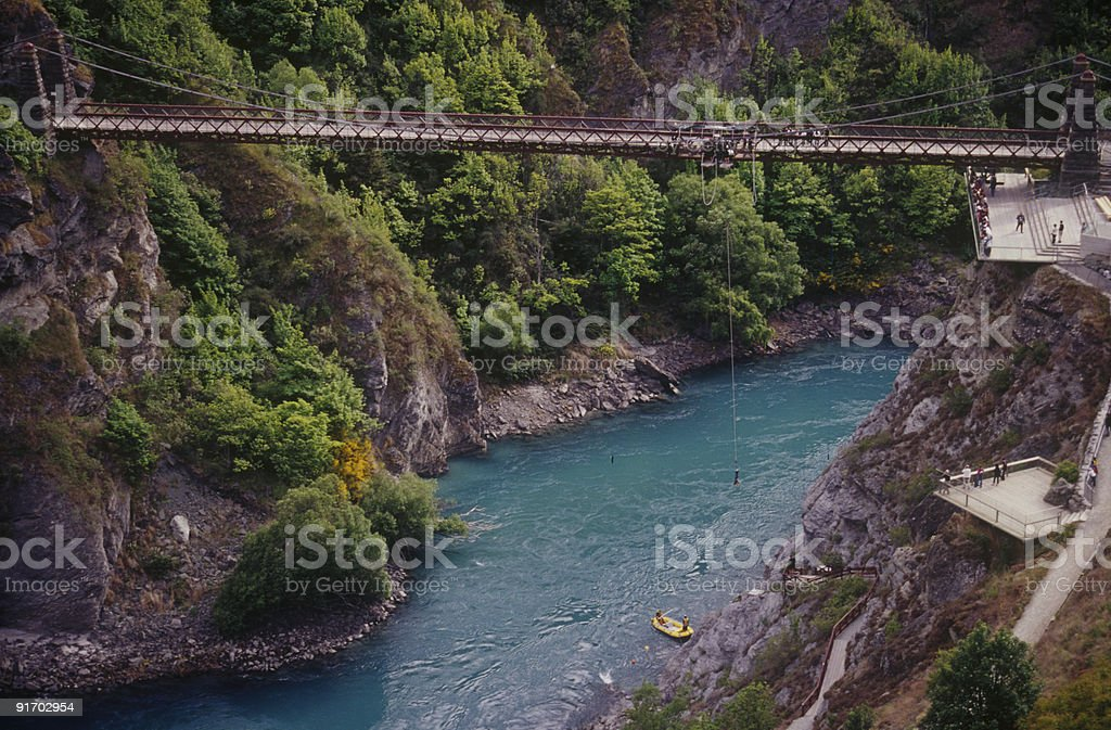 Kawarau Bridge bungy jumping stock photo