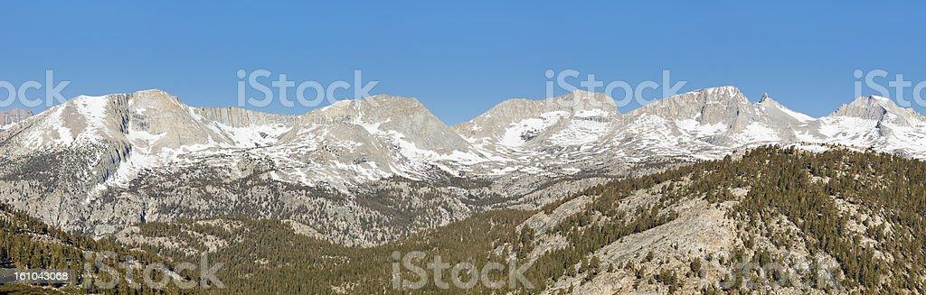 Kaweah Peaks Ridge Panorama stock photo