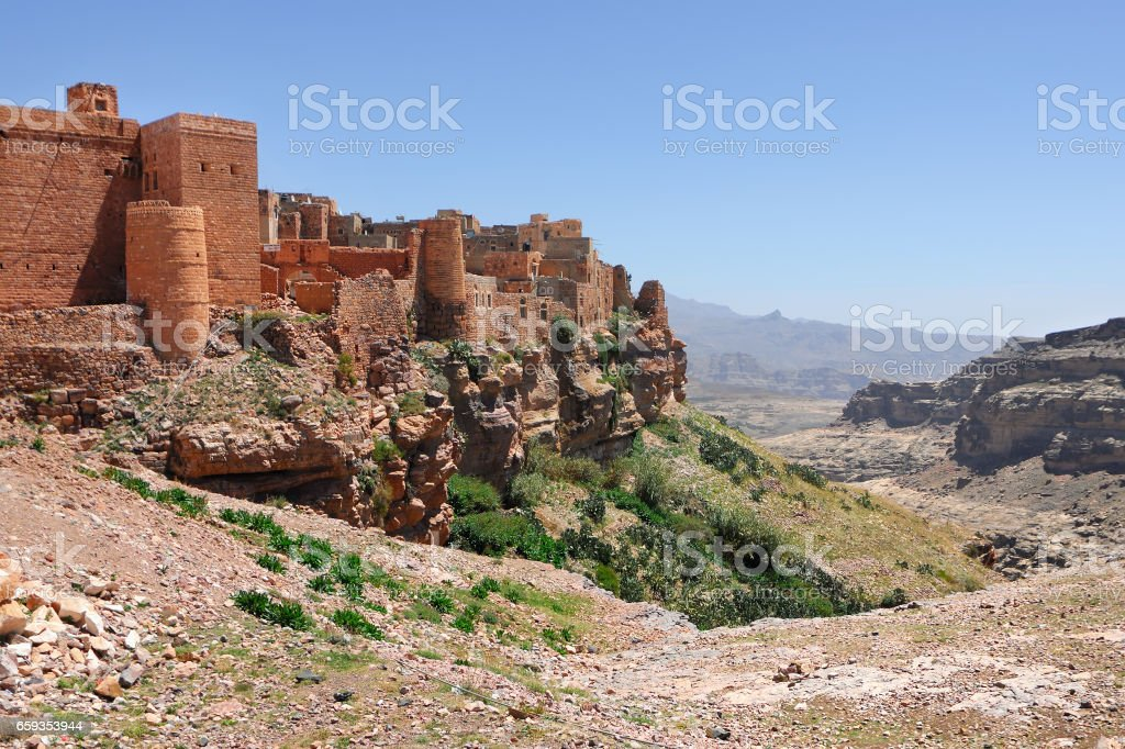 Kawkaban mountain village, Yemen stock photo