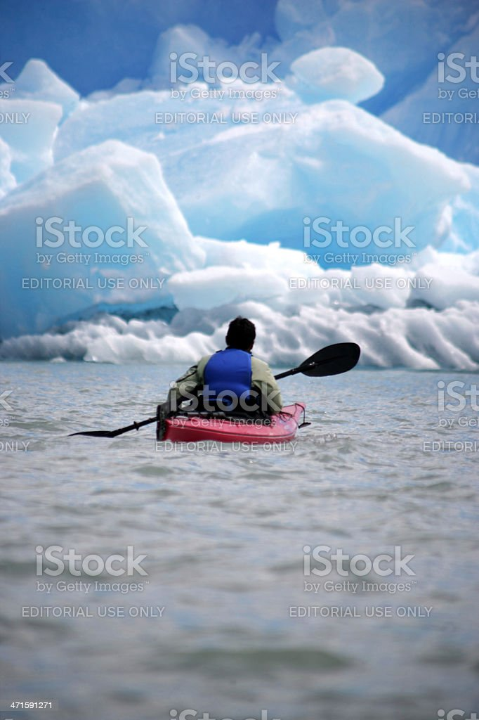 kayak alone royalty-free stock photo