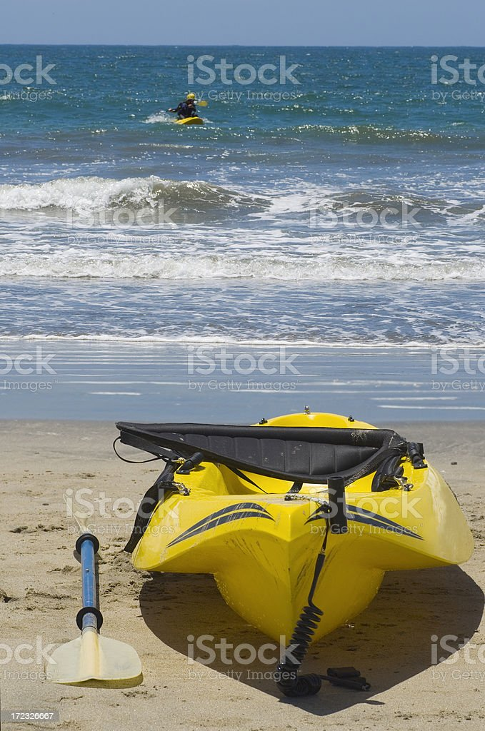 Kayak and Kayaker royalty-free stock photo