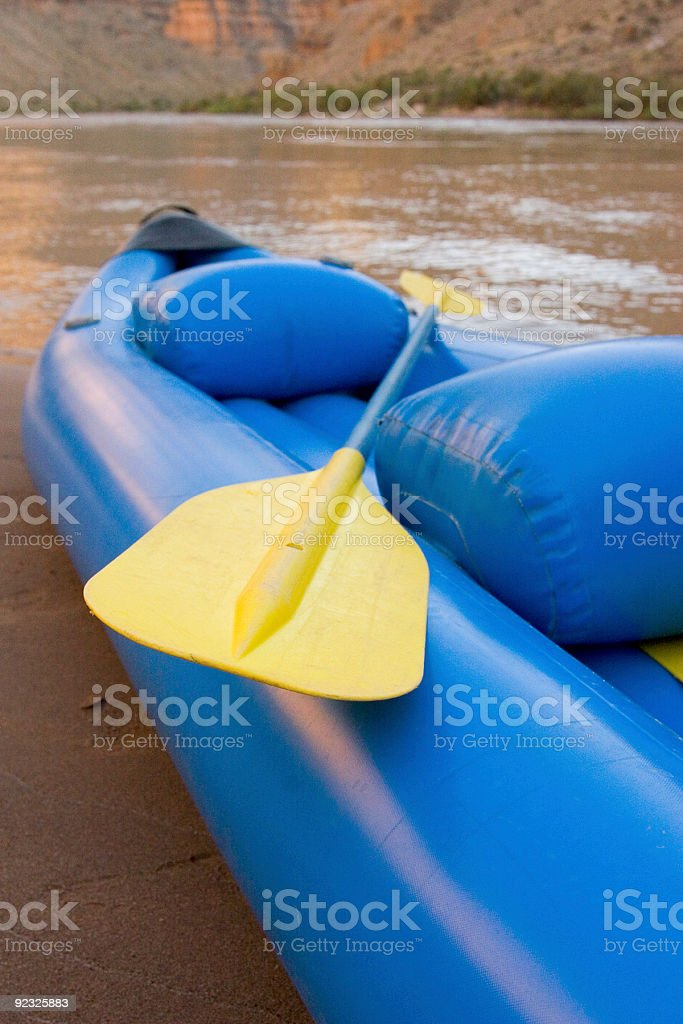 kayak by the river royalty-free stock photo