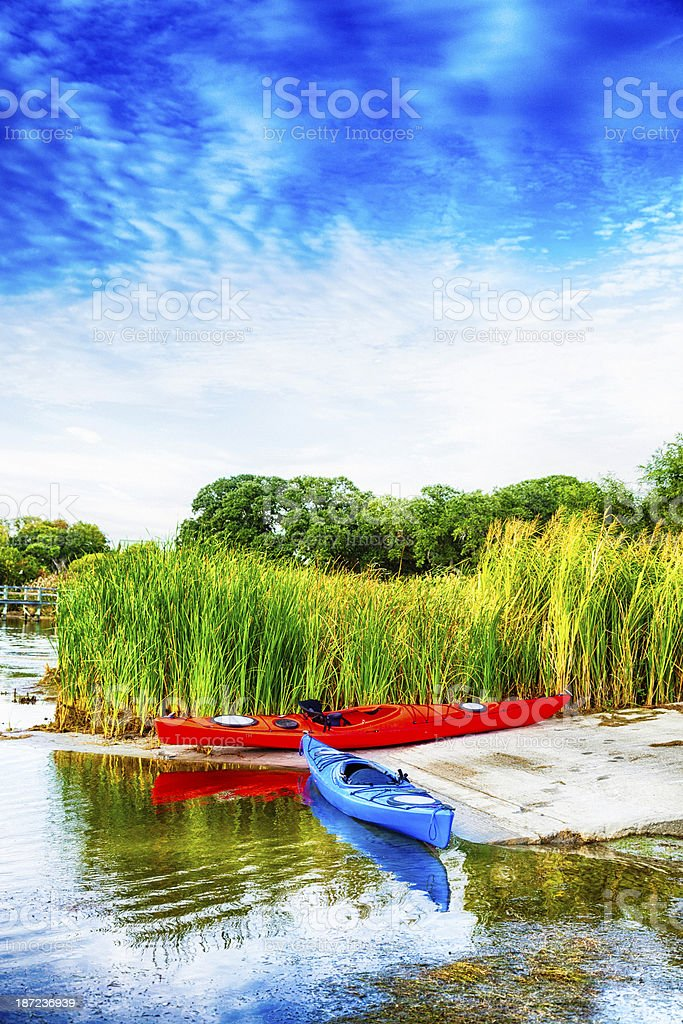 Kayak By Water's Edge royalty-free stock photo