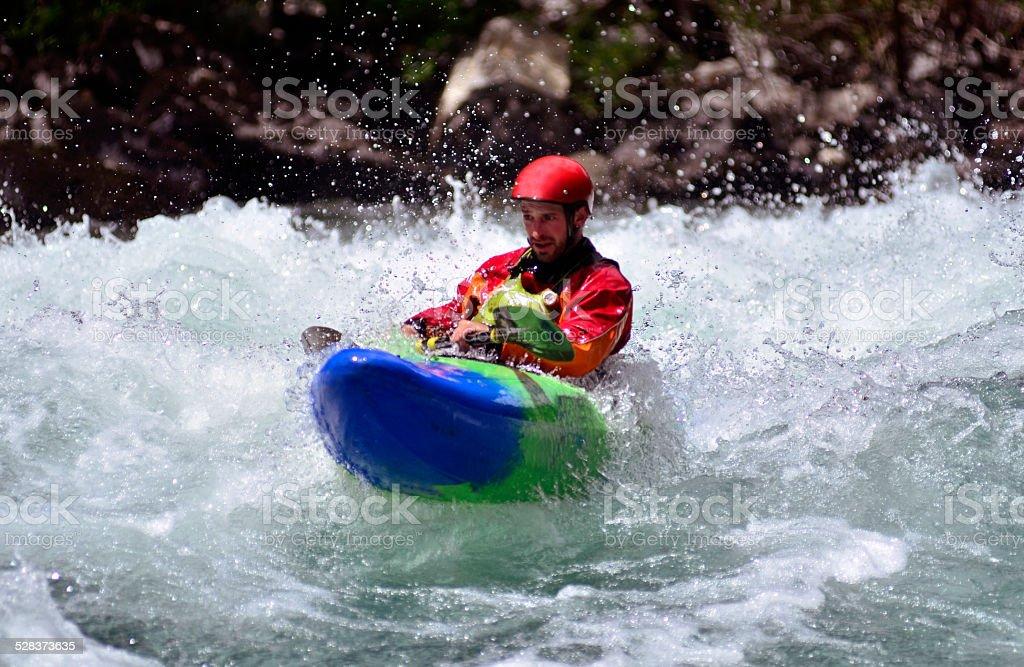Kayak de Aguas Blancas stock photo