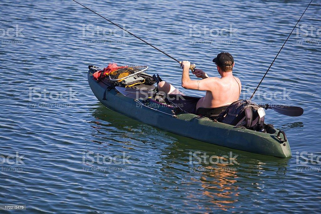 Kayak Fishing royalty-free stock photo
