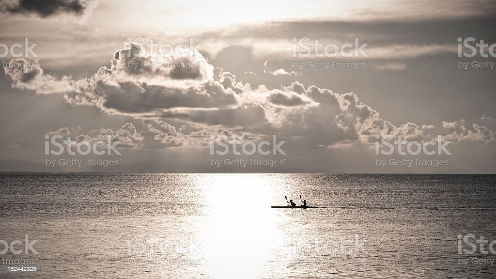 Kayak Freedom Together royalty-free stock photo