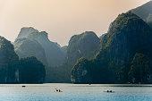 Kayak in Halong Bay