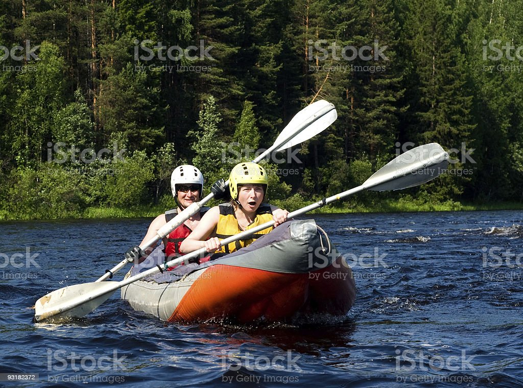 Kayak on river royalty-free stock photo