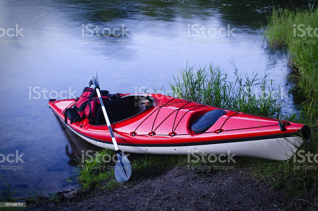 Kayak on Shore royalty-free stock photo