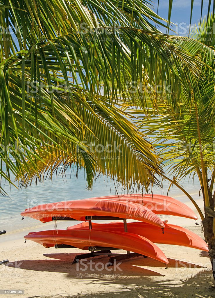 Kayak Rentals Moorea royalty-free stock photo