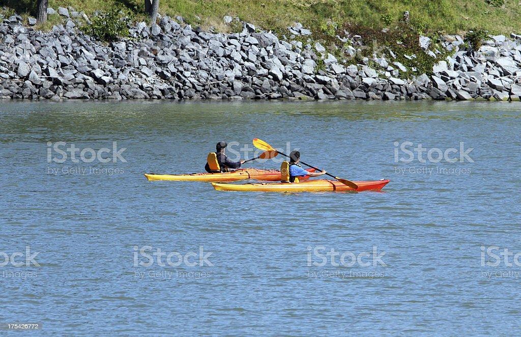 Kayak ride royalty-free stock photo