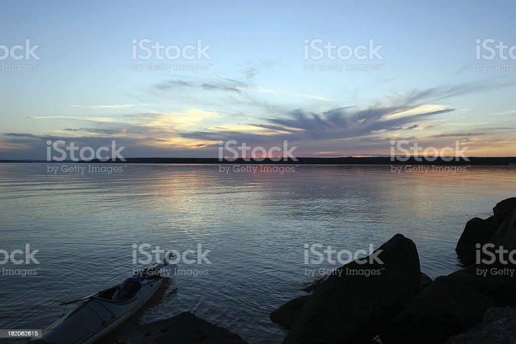Kayak Silhouette royalty-free stock photo