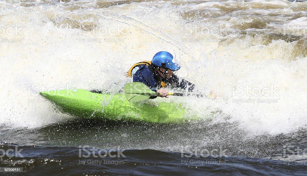 Kayak Spinning Around royalty-free stock photo
