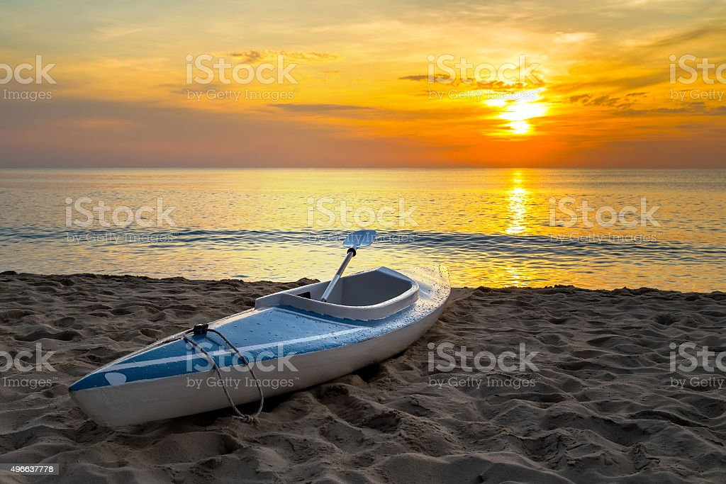 kayak Sunrise stock photo