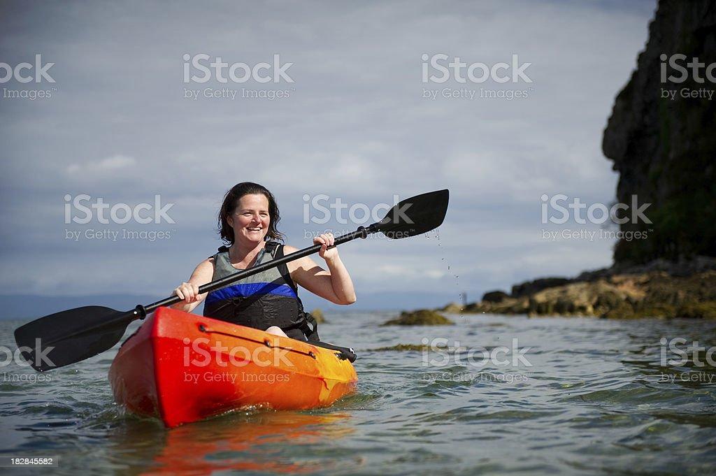 kayak woman royalty-free stock photo