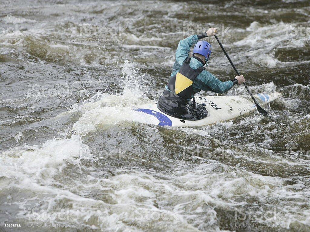 Kayaker 3 royalty-free stock photo