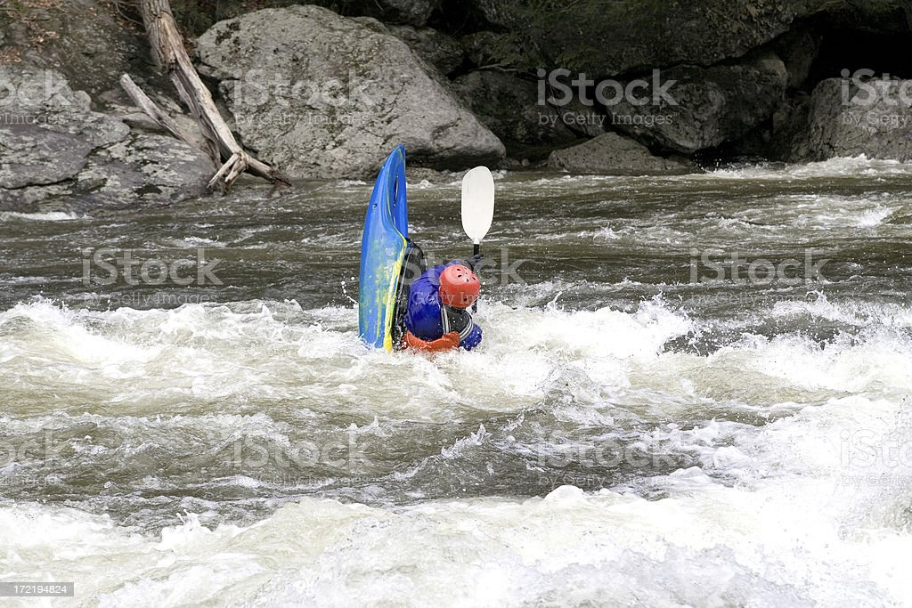 Kayaker in an Ender stock photo