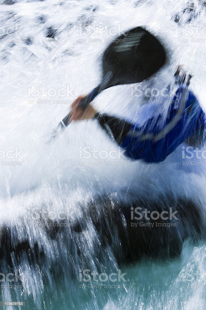 Kayaker in the water. royalty-free stock photo