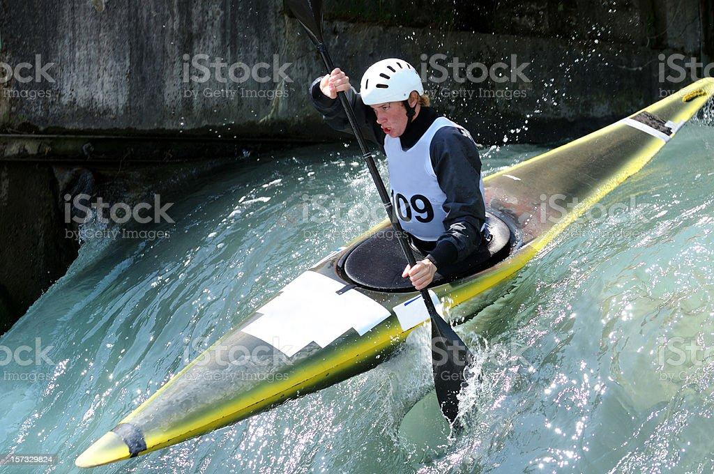 Kayaker stock photo