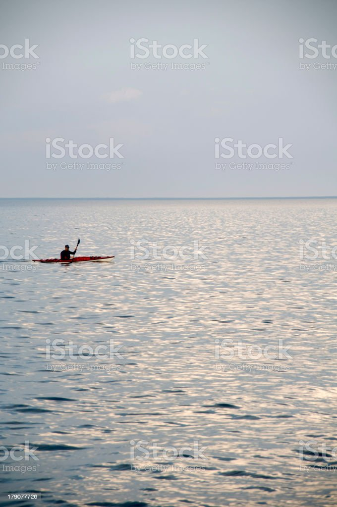 Kayaker stock photo