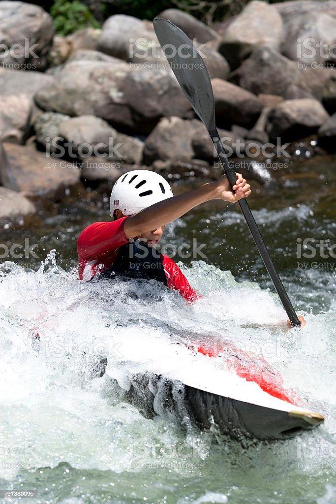 Kayaker royalty-free stock photo