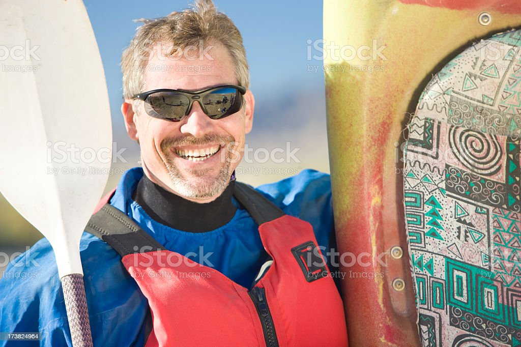 Kayaker Portrait royalty-free stock photo
