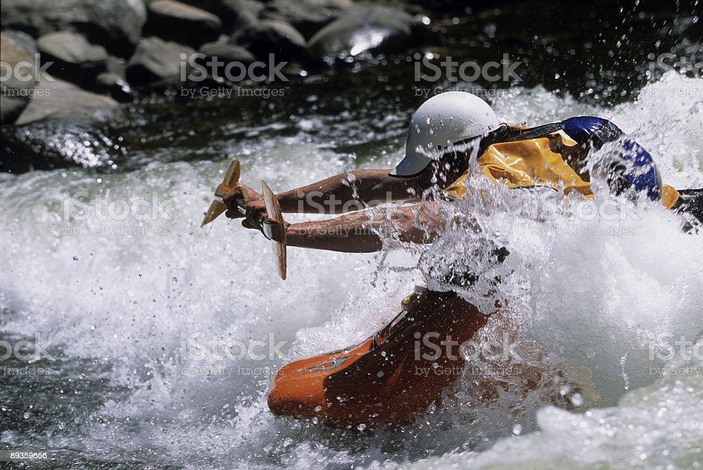 kayaker reaching royalty-free stock photo