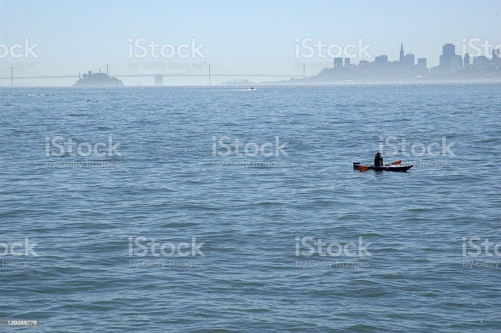 Kayaker silhouette stock photo