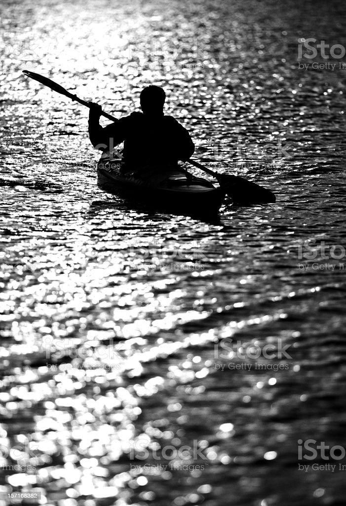 kayaker silhouette royalty-free stock photo