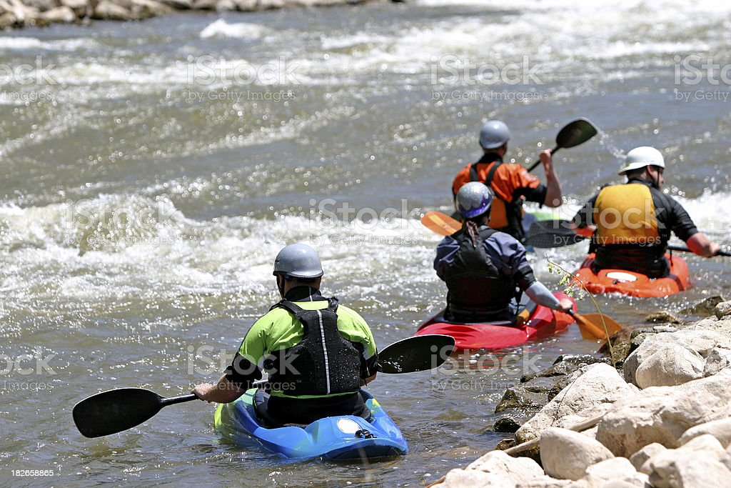 kayakers royalty-free stock photo