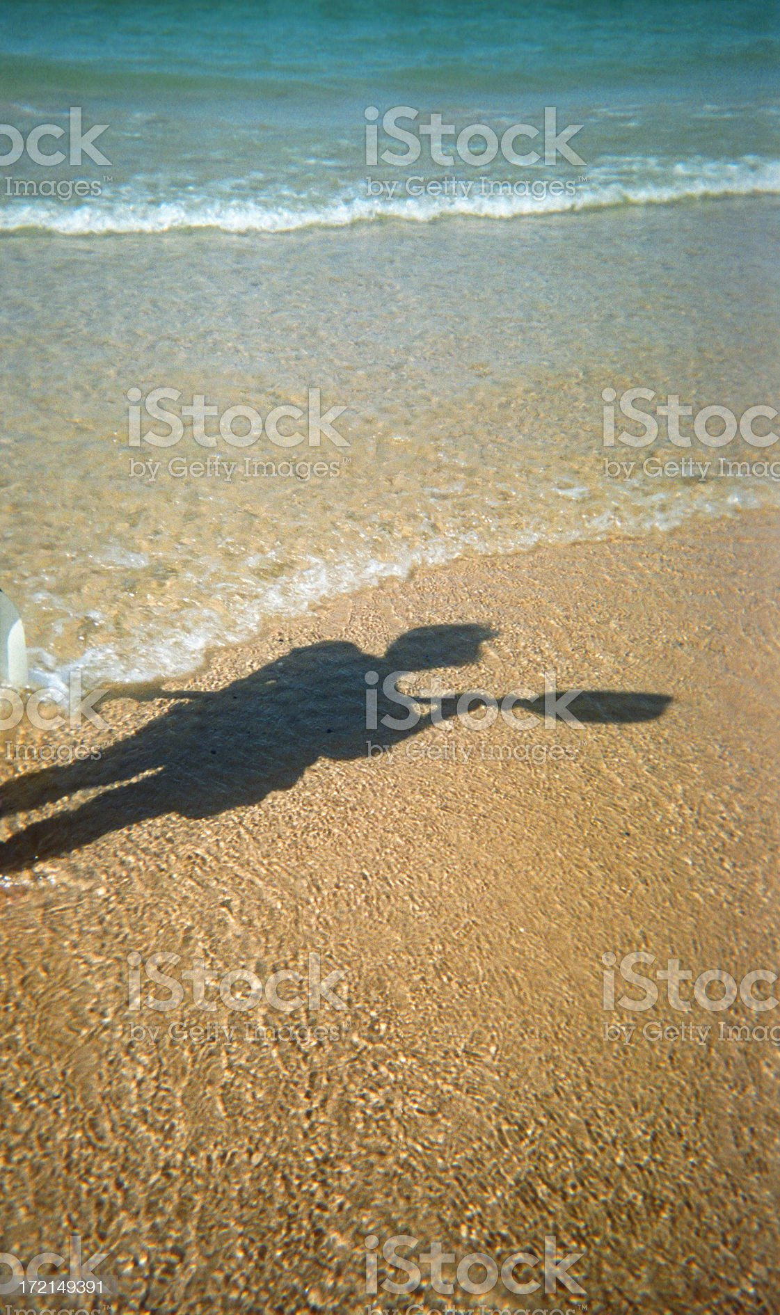 Kayaker's Shadow royalty-free stock photo