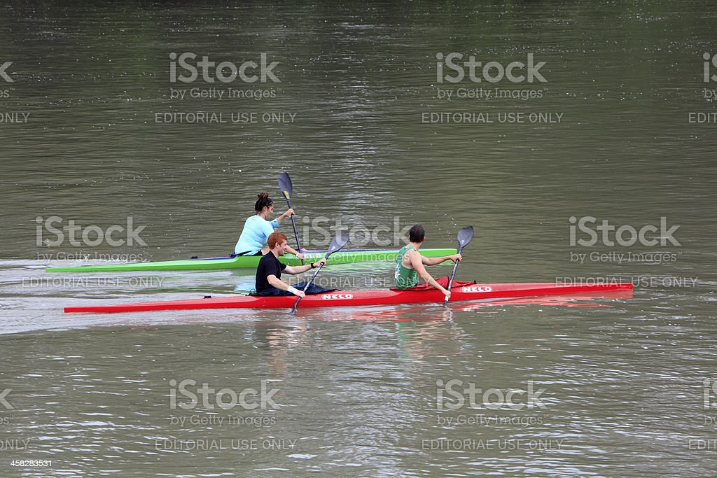 Kayaking At Historic Fort Langley British Columbia royalty-free stock photo
