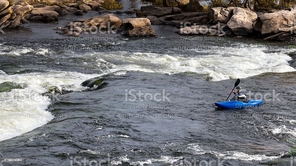 Kayaking at James River stock photo
