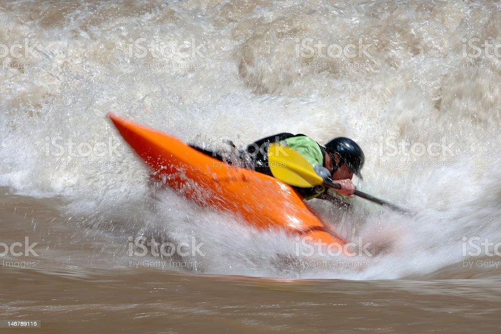 Kayaking Freestyle royalty-free stock photo