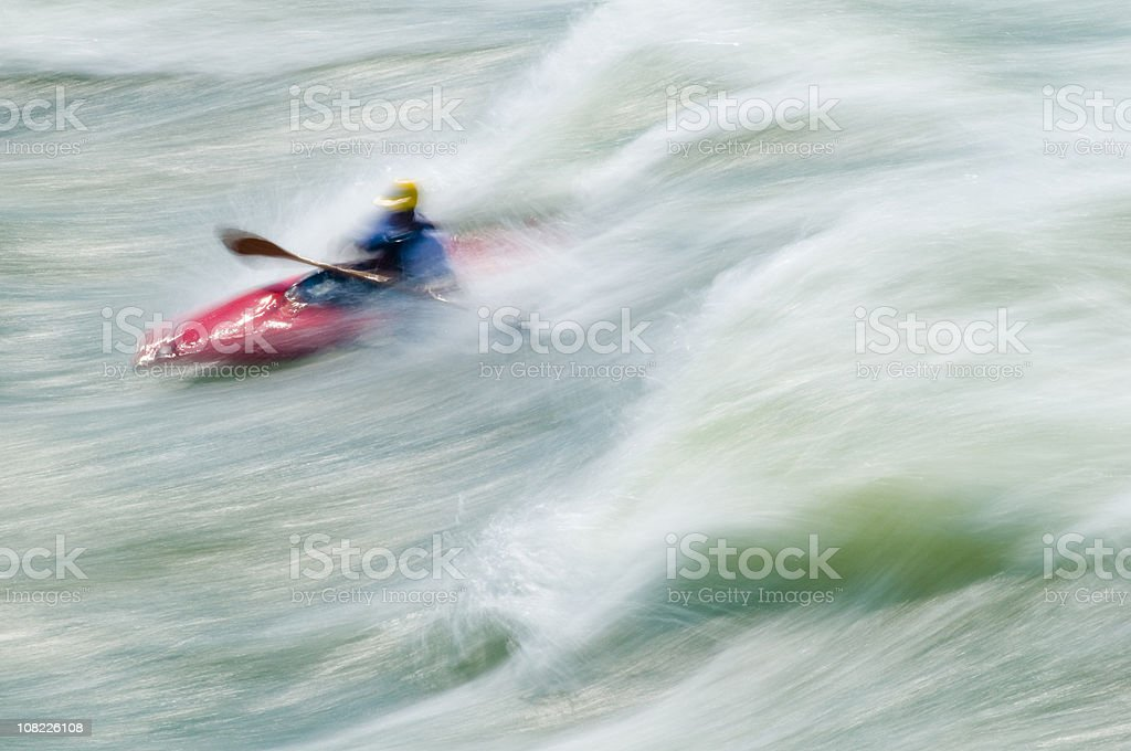 Kayaking, Great Falls, Potomac River, Virginia Maryland royalty-free stock photo