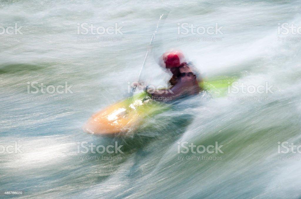 Kayaking, Great Falls, Potomac River, Virginia Maryland stock photo