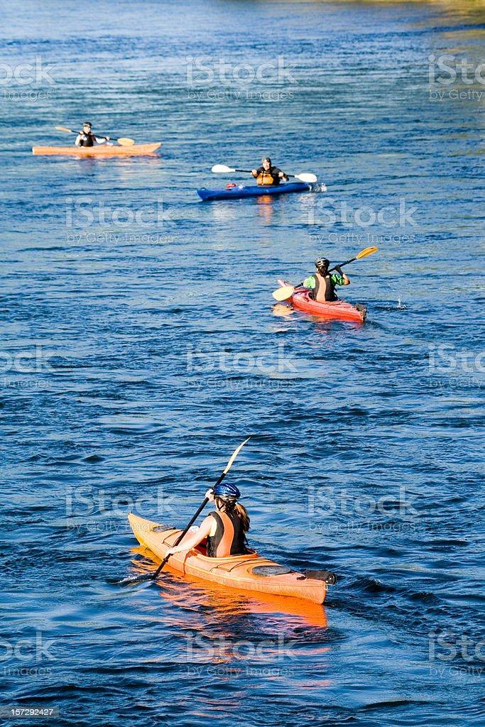 Kayaking Group royalty-free stock photo