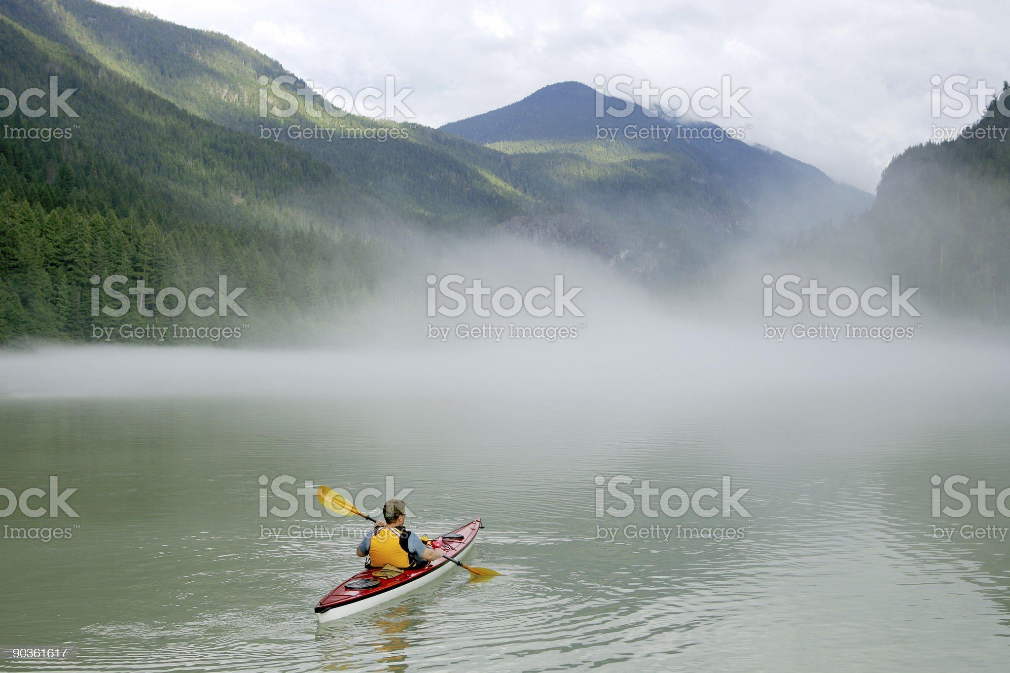Kayaking in Banff royalty-free stock photo