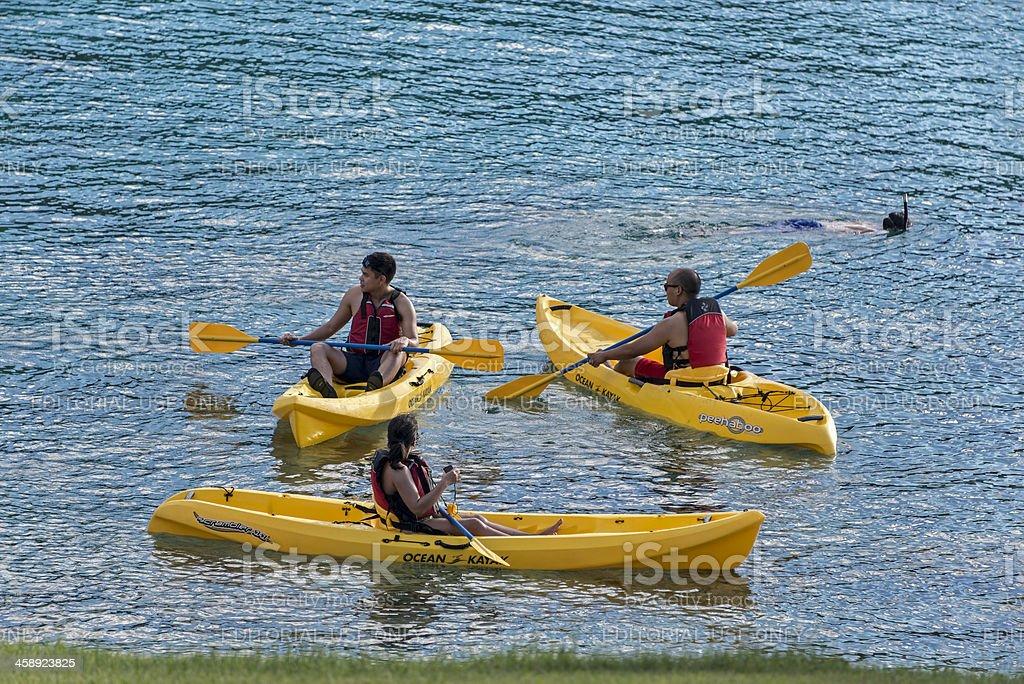 Kayaking In Caneel Bay stock photo