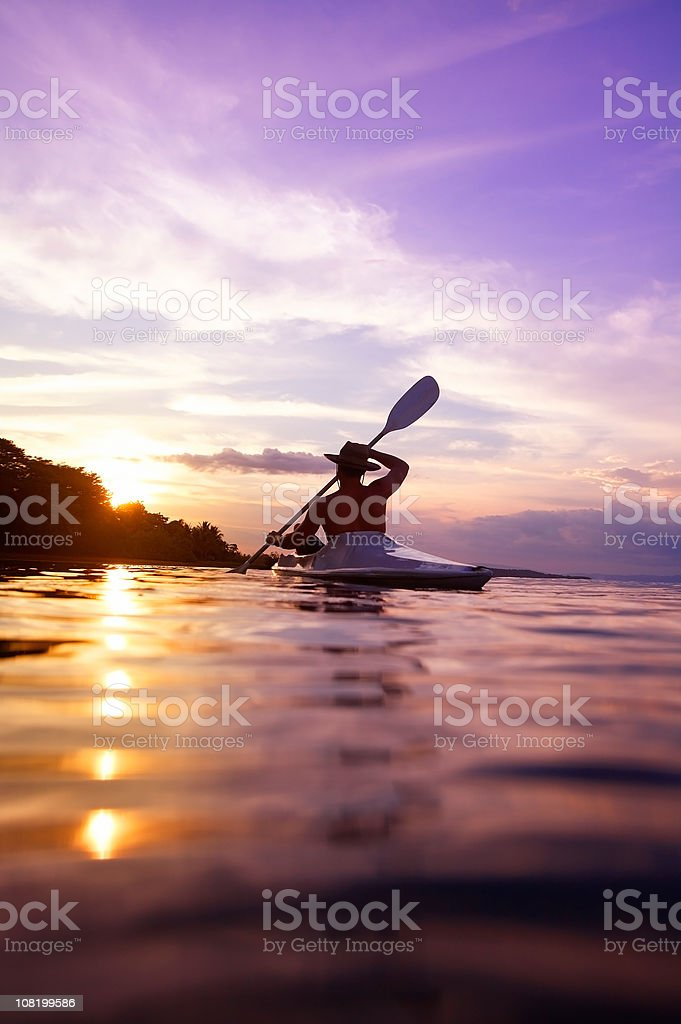 Kayaking in Costa Rica stock photo