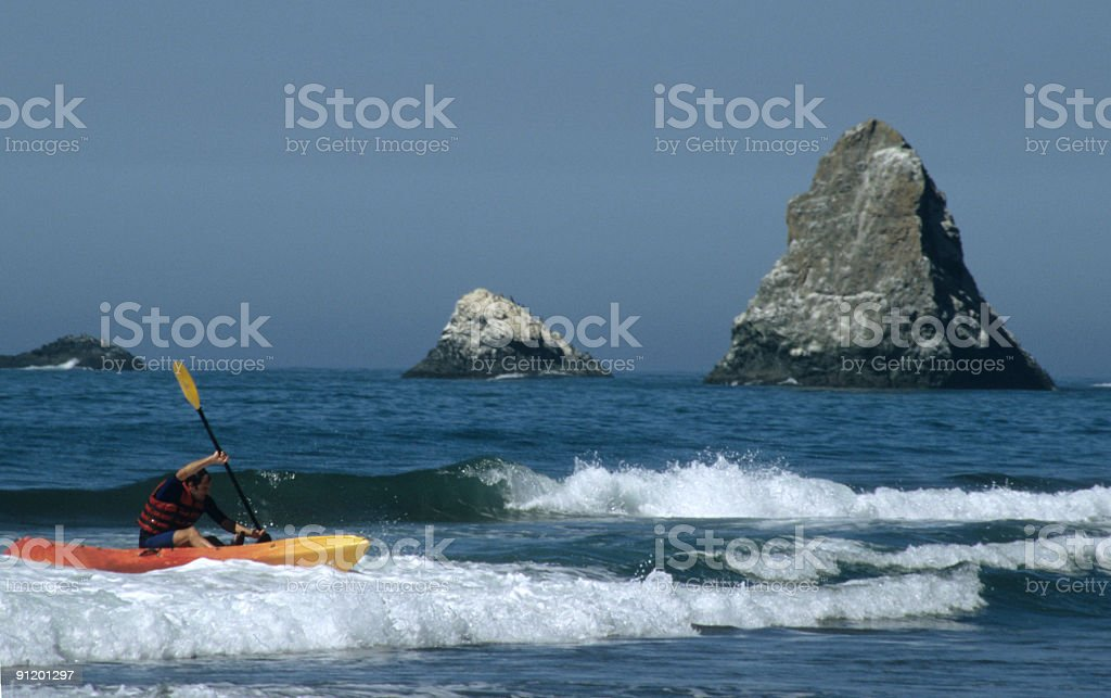 Kayaking in Northern California royalty-free stock photo
