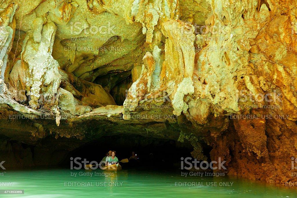 Kayaking in Pang Nga Bay, Thailand royalty-free stock photo