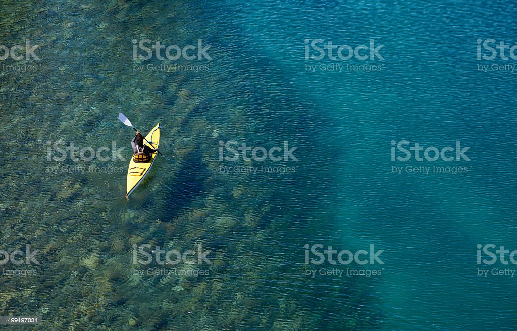 Kayaking In Patagonia stock photo