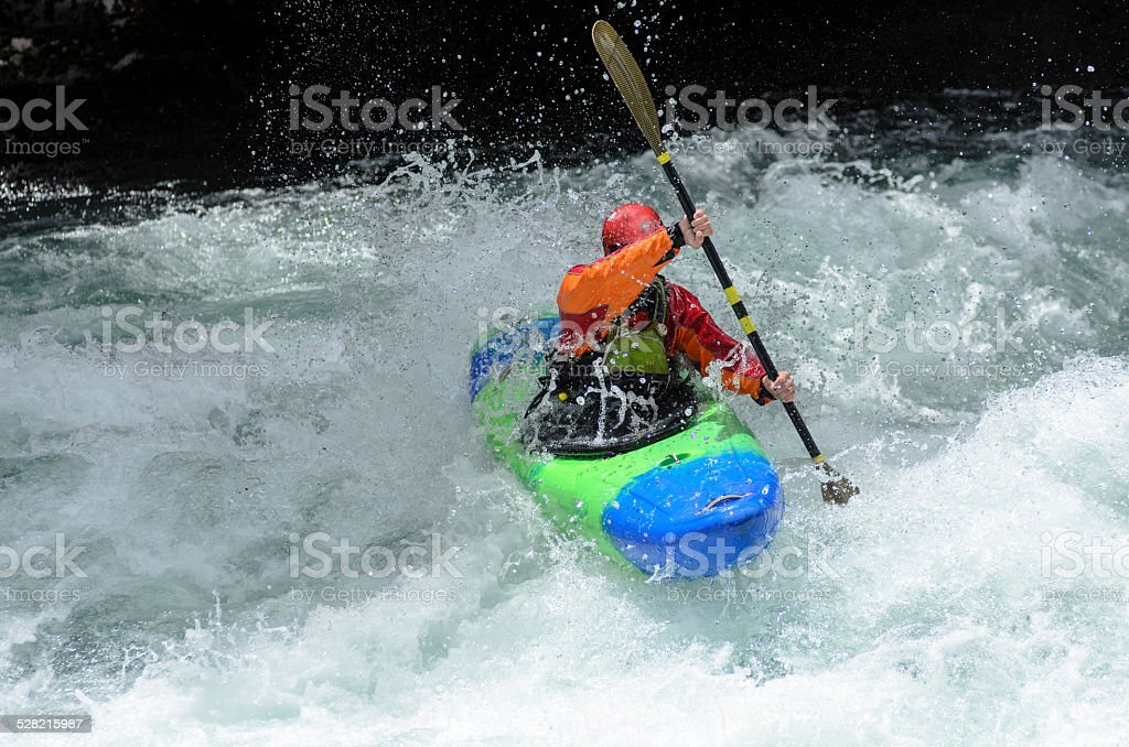 Kayak en Patagonia stock photo