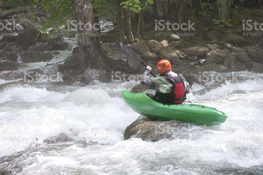 Kayaking in the Smokies (XXL) royalty-free stock photo