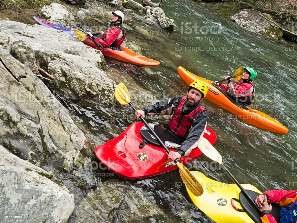 Kayaking in the Smoky Mountains stock photo