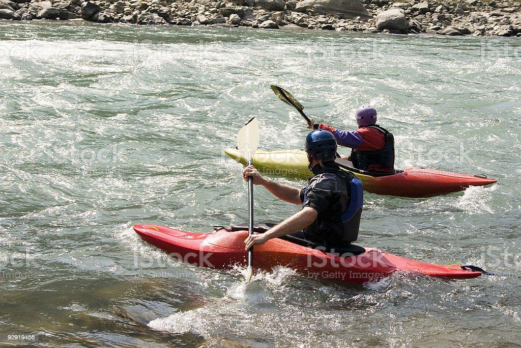 Kayaking - Nepal stock photo
