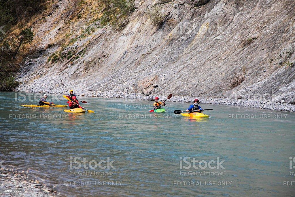 Kayaking on the Rhine stock photo