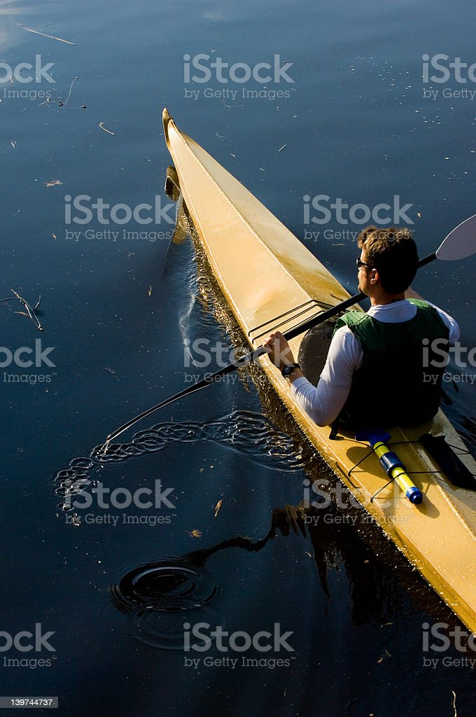 Kayaking royalty-free stock photo