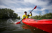Kayaking.